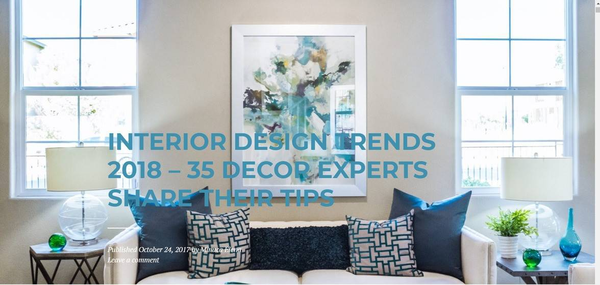 Interior design expert roundup by Minuca Elena