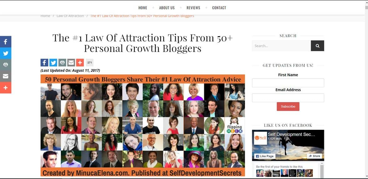 Personal growth expert roundup