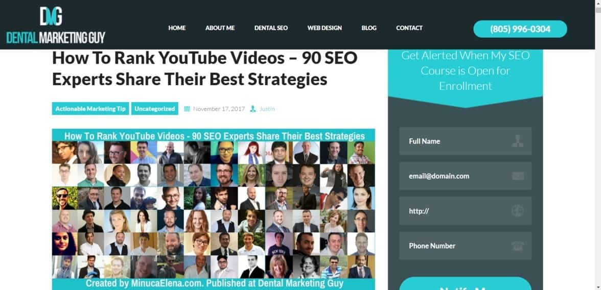 Youtube ranking expert roundup