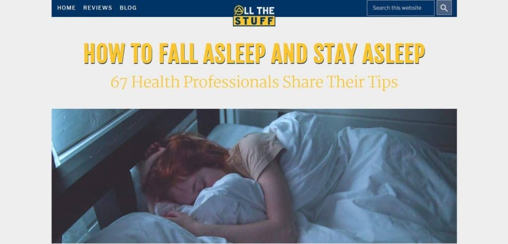 Sleep Expert Roundup