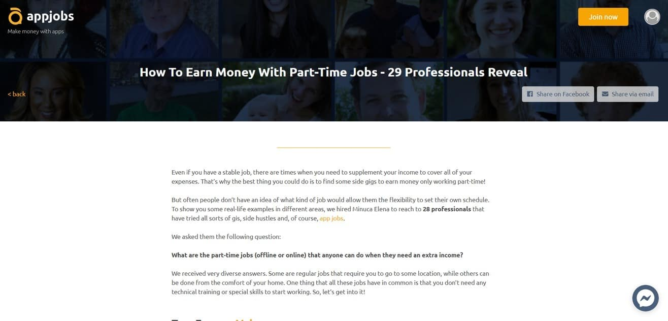 expert roundup about part-time jobs