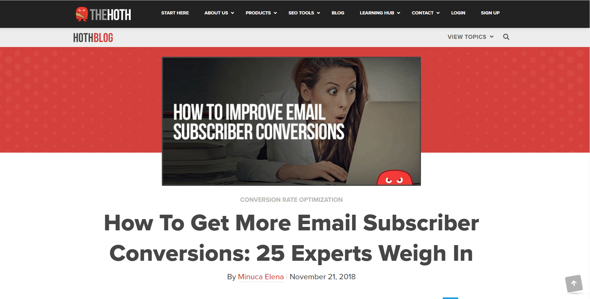 Email marketing expert roundup by Minuca Elena