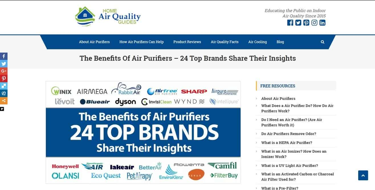 Expert roundup about air purifiers