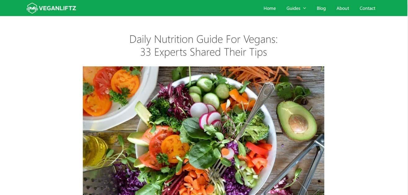 vegan expert roundup by Minuca Elena