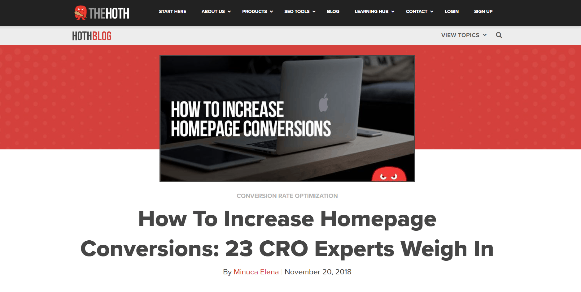 Homepage conversions expert roundup