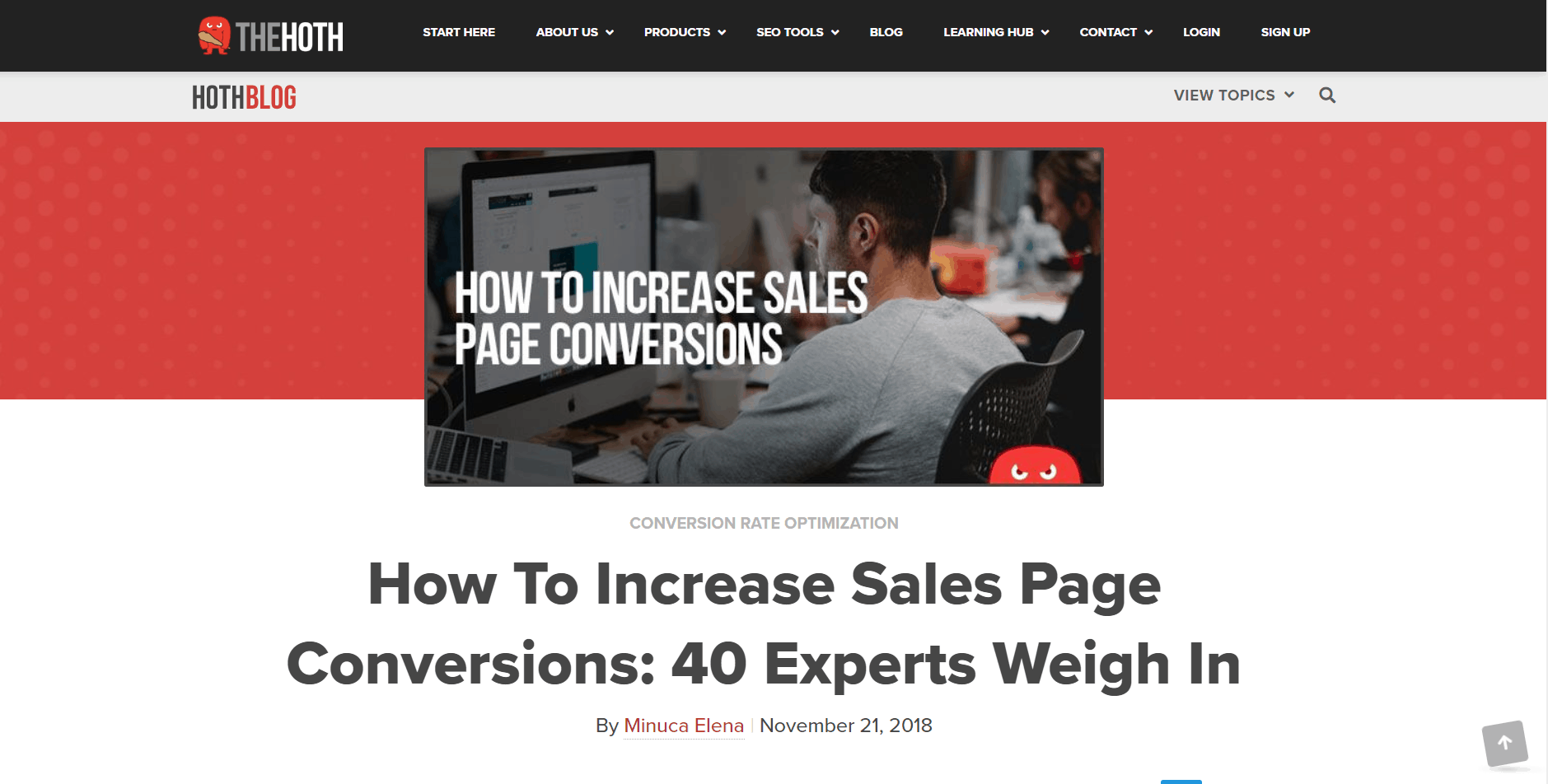 Sales page conversions expert roundup by Minuca Elena
