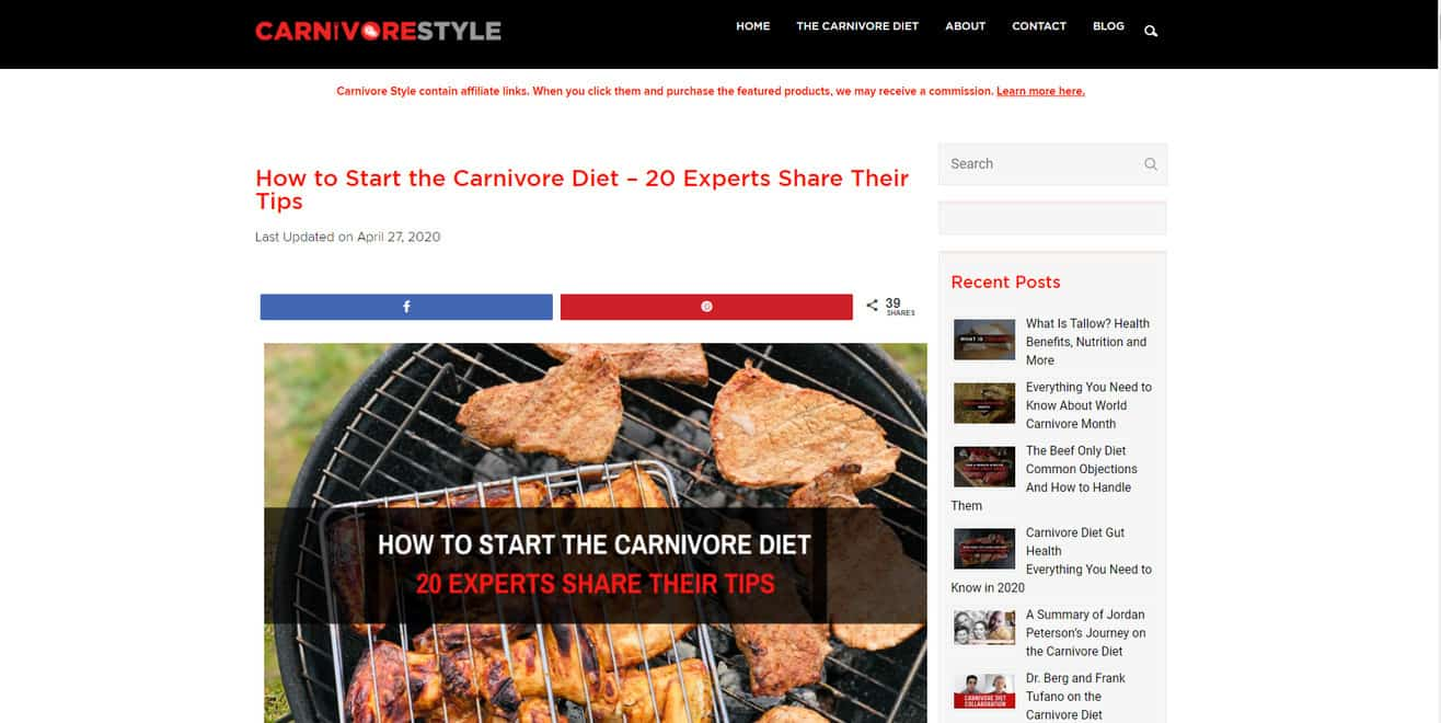 Expert roundup about the carnivore diet