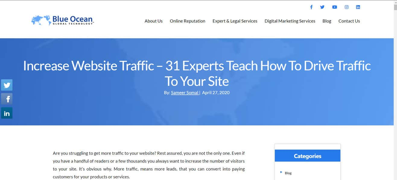 Increase-Website-Traffic expert roundup by Minuca Elena