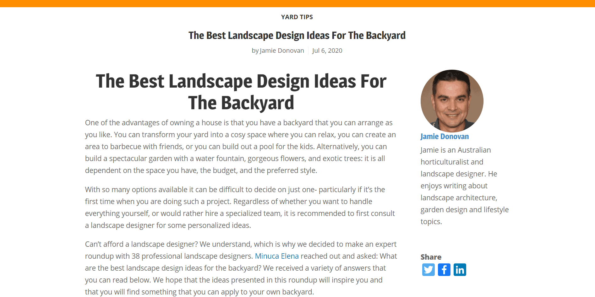 Landscape design expert roundup