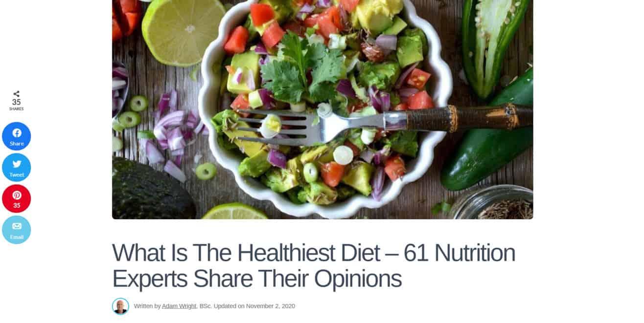 Healthiest diet expert roundup