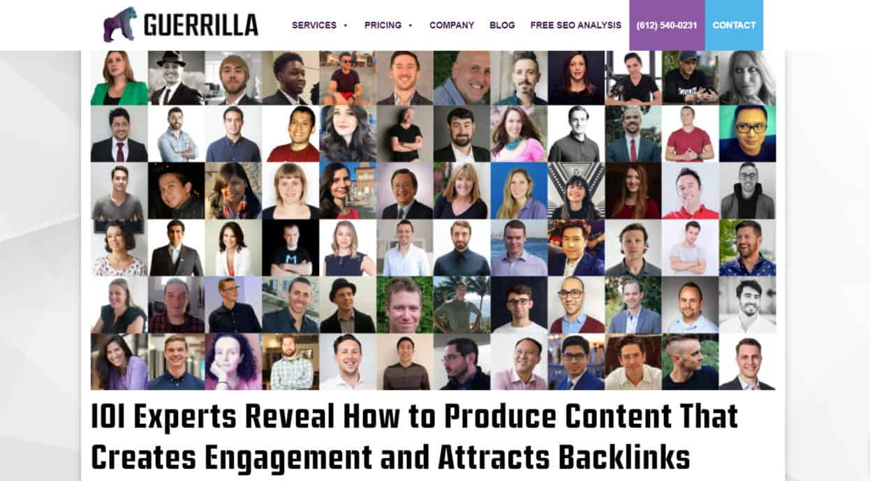 SEO and content expert roundup
