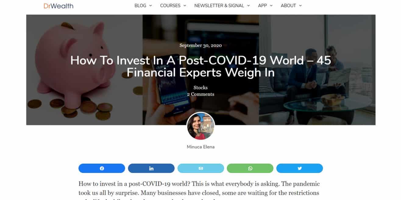 investment expert roundup