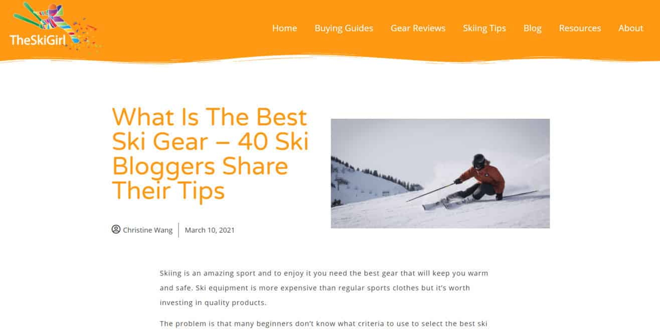 Expert roundup about ski gear