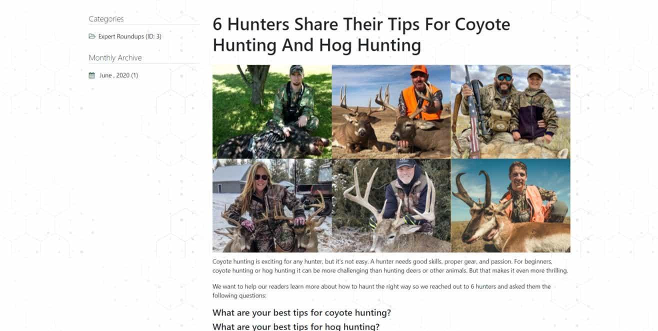 Hunting expert roundup
