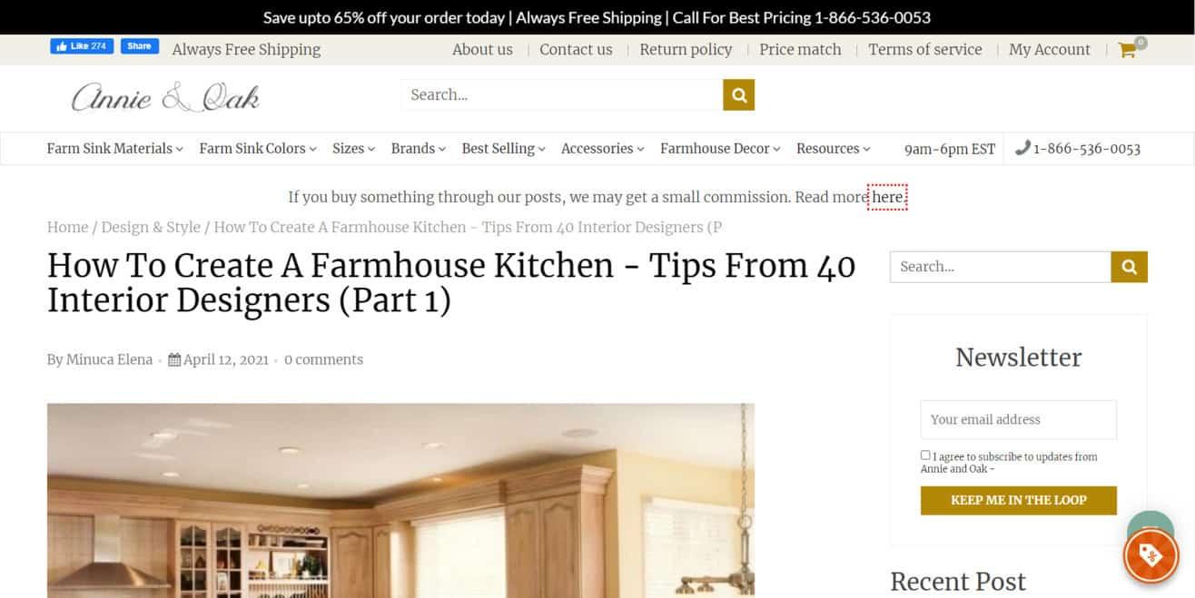 Farmhouse kitchen expert roundup