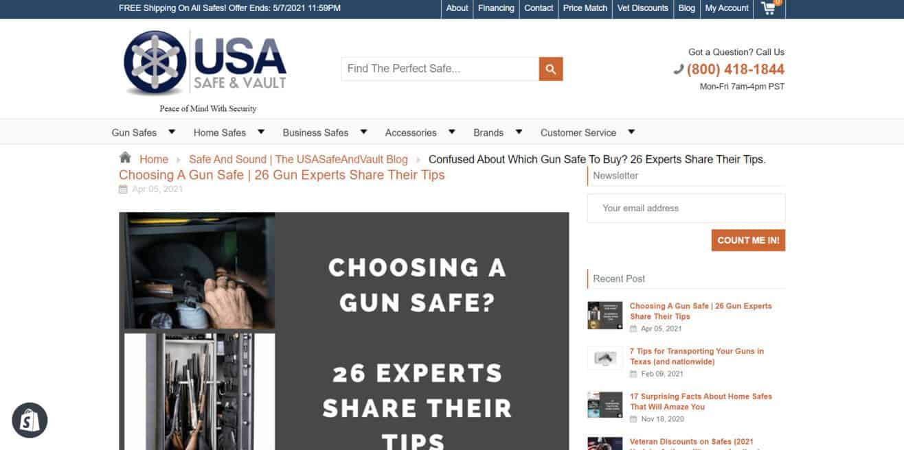 Gun safe expert roundup
