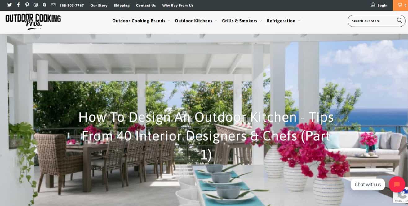 Outdoor kitchen expert roundup