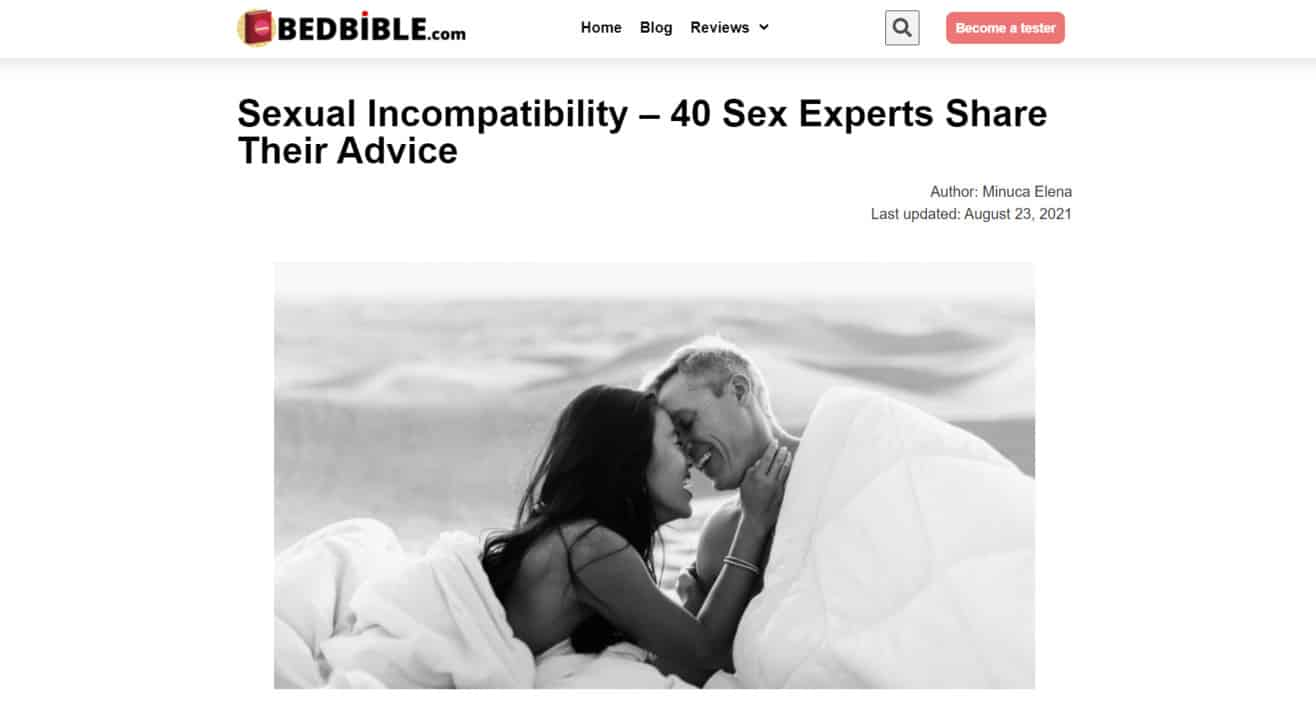 Sexual incompatbility expert roundup